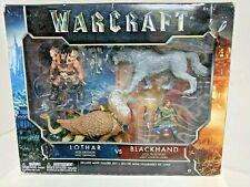 WARCRAFT LOTHAR W/GRYPHON VS BLACKHAND W/FROSTWOLF DELUXE MINI FIGURE SET