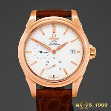 OMEGA DE VILLE CO-AXIAL 18K ROSE GOLD POWER RESERVE 39MM BOX & PAPERS