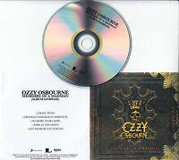 OZZY OSBOURNE Memoirs Of A Madman Album Sampler 2014 UK 5-track promo only CD
