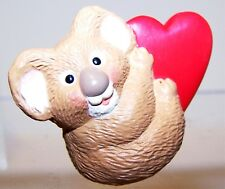 1995 New Hallmark Valentine Merry Miniature Koala Bear +Heart Never Used Qsm8019