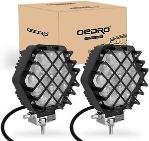 OEDRO Round 5inch 48W Led Work Light Bar Pods Offroad ATV SUV Bumper Fog Pods