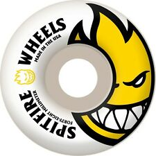 SPITFIRE 48MM BIGHEAD WHITE / YELLOW BRAND NEW CHEAP SKATEBOARD WHEELS