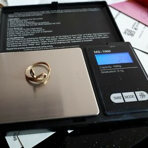 Goldring Schlange 2,4 Gramm 333er Gold