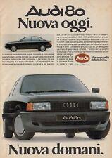 X3143 Automobile AUDI 80 - Pubblicità d'epoca - 1986 vintage advertising