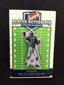 Miami Dolphins Bob Griese jersey lapel pin-Classic Collectible-HOF 1990
