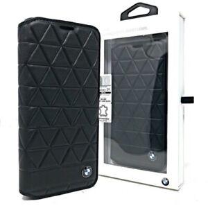 Genuine BMW Signature Embossed Hexagon Leather Book Case Samsung S9
