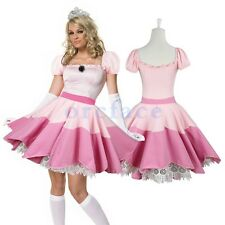 Hot Princess Peach Costume Fancy Dress Women Cosplay Fancy Dress Party Gaming