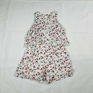 Justice Girl's Dress With Shorts Pink Floral Size 12