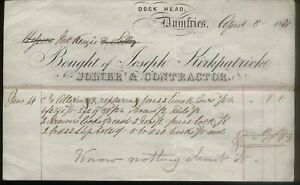 1871 DUMFRIES, DOCK HEAD, JOSEPH KIRKPATRICK, JOINER/CONTRACTOR, TO McKENZIE