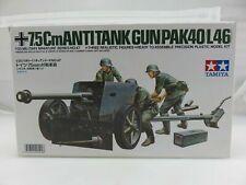 Tamiya 1/35 No47 German Army 75mm Anti-tank Gun Plastic Model 35047