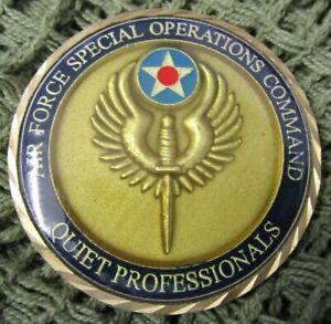 USAF AFSOC QUIET PROFESSIONALS AIR COMMANDOS RESCUE WARRIORS CHALLENGE COIN #5.