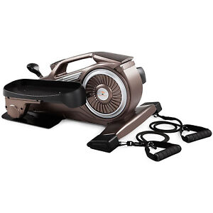 Marcy Bionic Body Home Gym Compact Elliptical Trainer with Resistance Tubes