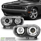 Black 2008-2014 Dodge Challenger HID Version LED CCFL Halo Projector Headlights  for sale