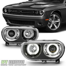 Black 2008-2014 Dodge Challenger HID Version LED CCFL Halo Projector Headlights