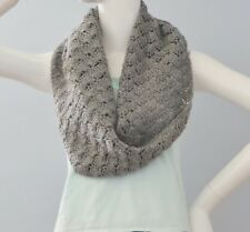 New Handmade Crochet Gray Soft Acrylic Stylish Lacy Scarf