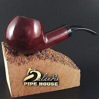 ECCEZIONALE Mr.Balandis originale Fatto a Mano Pipa legno di pero SPARROW Rubin