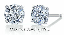 .50Ct Diamond Round Natural Brilliant Cut Push Back Stud Earrings 14K White Gold