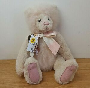 """Charlie Bears Limited Edition Retired """"Joan"""" Pink Bear no 332/400 Pieces"""