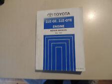 Engine Work shop repair manual Toyota SUPRA JZA80 05.1993 Motor Werkstattbuch