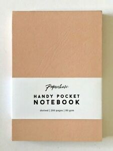 Paperchase Pocket Nude Dot Soft Cover Doted Notepad Notebook Journal