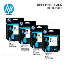 Genuine HP 11 Black, Cyan, Magenta, Yellow Printheads - C4810A/11A/12A/13A - VAT