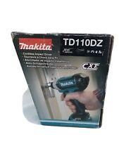 MAKITA TD110DZ CORDLESS IMPACT DRIVER SCREWDRIVER