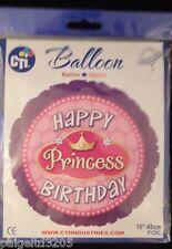 "Cti Happy Birthday Princess Birthday Round Foil Balloon 18""/45cm"