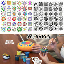 36/56pcs Mandala Dot Painted Templates Stencils Kit For Rock Art  Painting DIY
