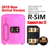 RSIM 12+ 2018 R-SIM Nano Unlock Card Fits iPhone X/8/7/6/6s/5S/ 4G iOS 10 11 12
