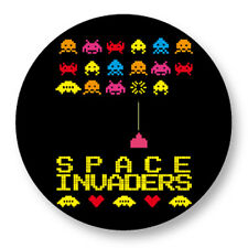 Pin Button Badge Ø38mm Space Invaders Retro Game Jeu Vidéo Arcade