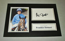 Frankie Dettori Signed A4 Photo Display Horse Racing Autograph Memorabilia + COA