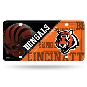 CINCINNATI BENGALS LICENSE PLATE METAL FREE SHIPPING BRAND NEW STYLE