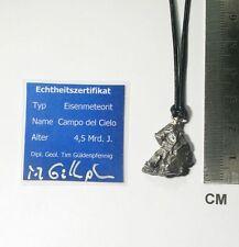 Schmuckanhänger Meteorit Campo del Cielo mit Lederband / neu