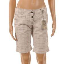 Cotton Check Plus Size Shorts for Women