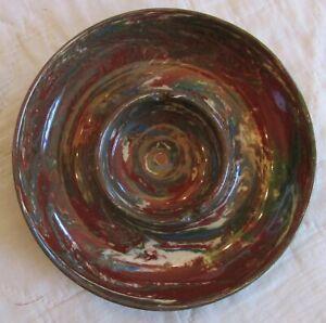 Vintage Desert Sands Pottery Swirl Redware Ashtray