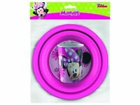 Disney Minnie Mouse Childrens Mealtime Set Complete with Cup, Bowl and Plate NEW