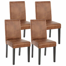 4x Stuhl Kunstleder Wildleder -Look Esszimmerstuhl Lehnstuhl Polsterstuhl Stühle