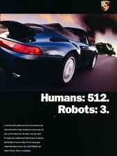 1995 1996 Porsche 911 Cabriolet Robots Human Anuncio Impresión Arte Coche J900