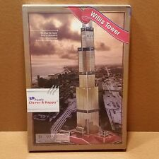 BRAND NEW SEALED 3D Puzzle CLEVER & HAPPY Willis Tower 51 Pieces Z-B026