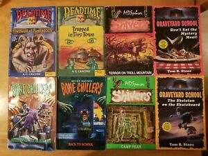 Lot of 8 Childrens Horror Stories SHIVERS, DEADTIME STORIES, BONE CHILLERS ETC