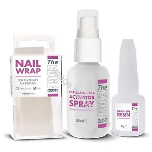 The Edge Nails SILK WRAP STARTER TRIAL KIT False Nails Beginner Kit Tips Wraps