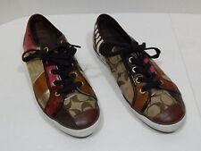 Coach Shoes Dawnell Patchwork Women's Tennis Shoes Brown Size 7.5M