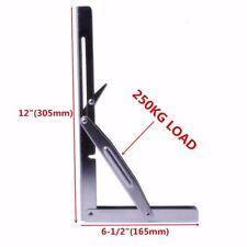 Stainless Steel Folding Shelf Bench Table Bracket Heavy Duty 250kg / per Load