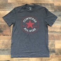 Converse All Star Men's Chuck Taylor Logo T-Shirt size XS Grey Short Sleeve