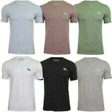 Mens Tokyo Laundry Short Sleeve Crew Neck Cotton Stretch Plain Summer T-Shirt