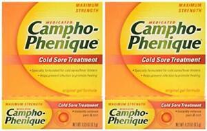 Campho-Phenique Cold Sore Treatment Maximum Strength Original Gel Formula 2 Pack
