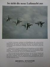 6/1979 PUB GENERAL DYNAMICS F-16 FIGHTING FALCON US AIR FORCE ORIGINAL GERMAN AD