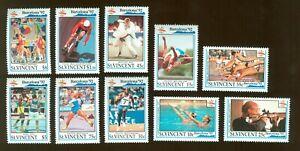 St.Vincent and Grenadienes 1992 10 stamps Mi# 1961-70 set MNH CV=19€