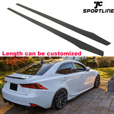 Carbon Fiber Side Skirts For BMW F10 F20 F30 F32 Benz W205 W218 Universal 205CM