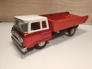 Vintage MF-149 MF149 Dump truck Friction Tin Toy - Made in China